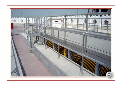 Handrail and Guardrails providing roof top and platform safety in steel, aluminium, grp and stainless from EPSL